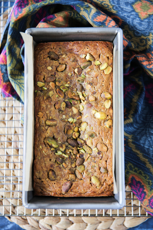 PaleOMG Tahini Pistachio Banana Bread