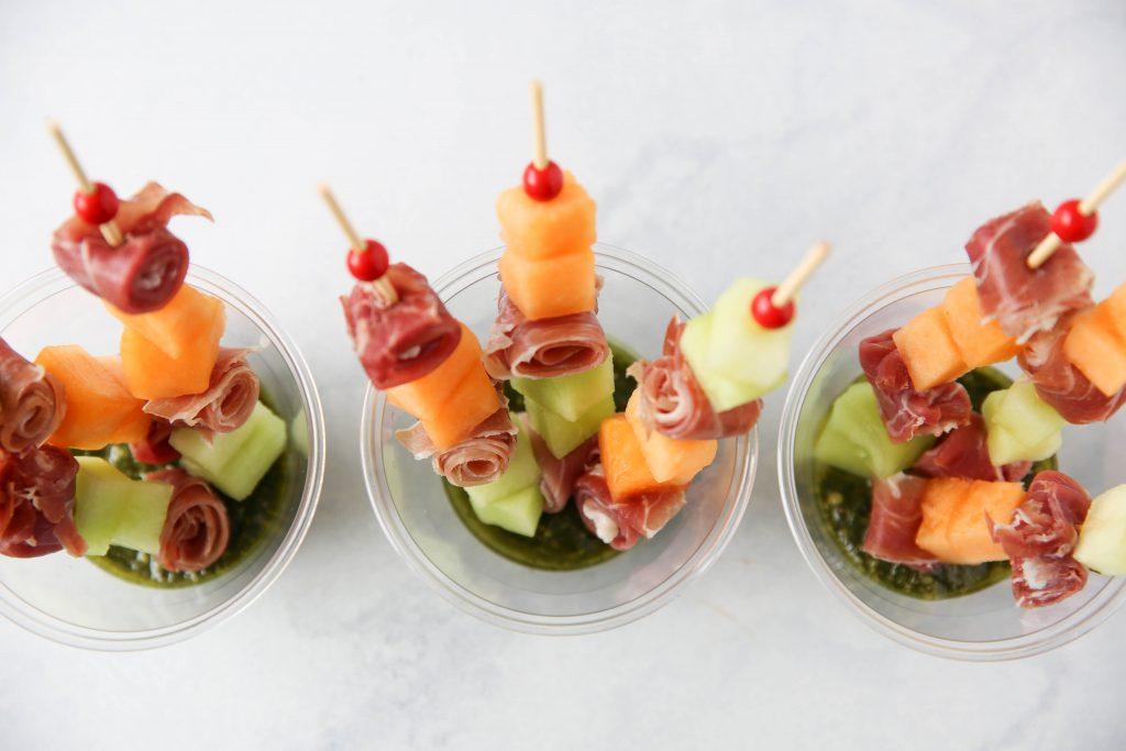 PaleOMG Prosciutto & Melon Pesto Poppers
