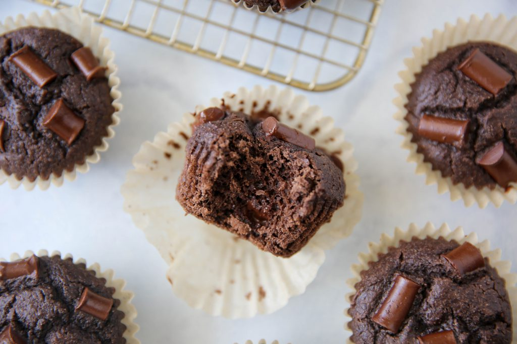 PaleOMG Double Chocolate Greek Yogurt Muffins (yes, dairy-free)