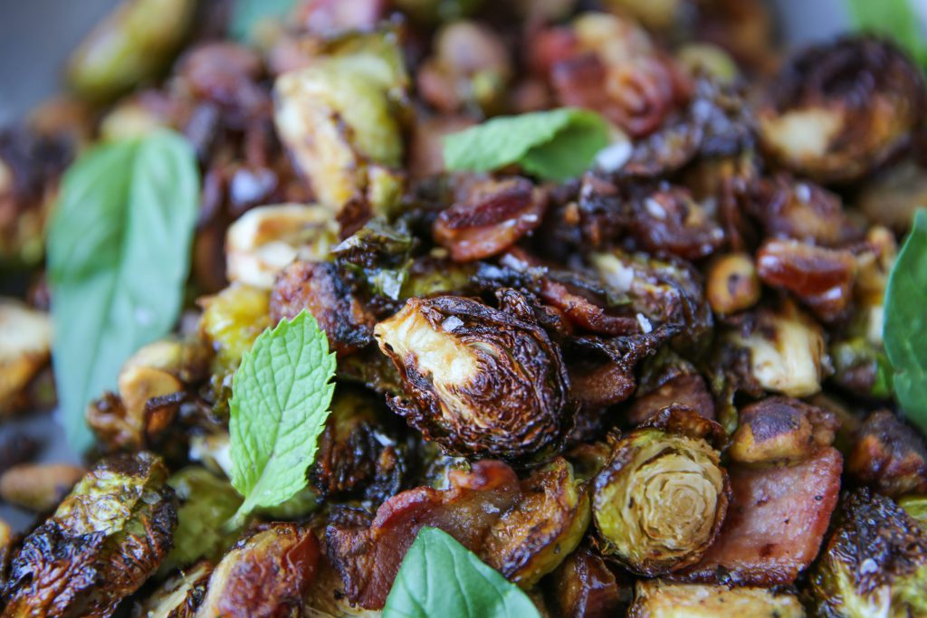 PaleOMG Air Fryer Bacon Brussels Sprouts