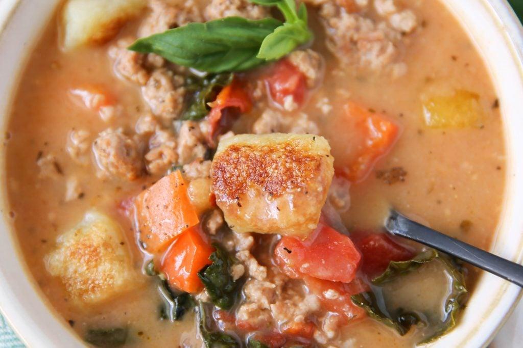 PaleOMG Instant Pot Creamy Gnocchi Soup