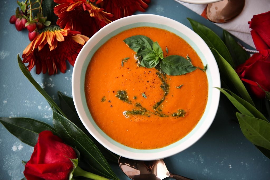 PaleOMG Instant Creamy Tomato Pesto Soup
