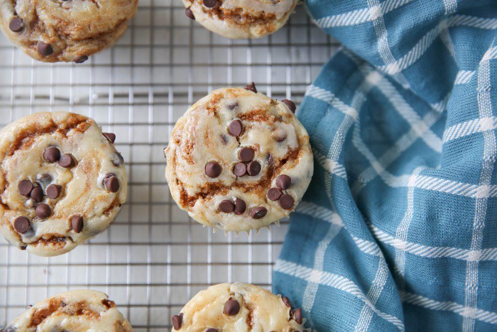 PaleOMG Chocolate Chip Pumpkin Cheesecake Muffins
