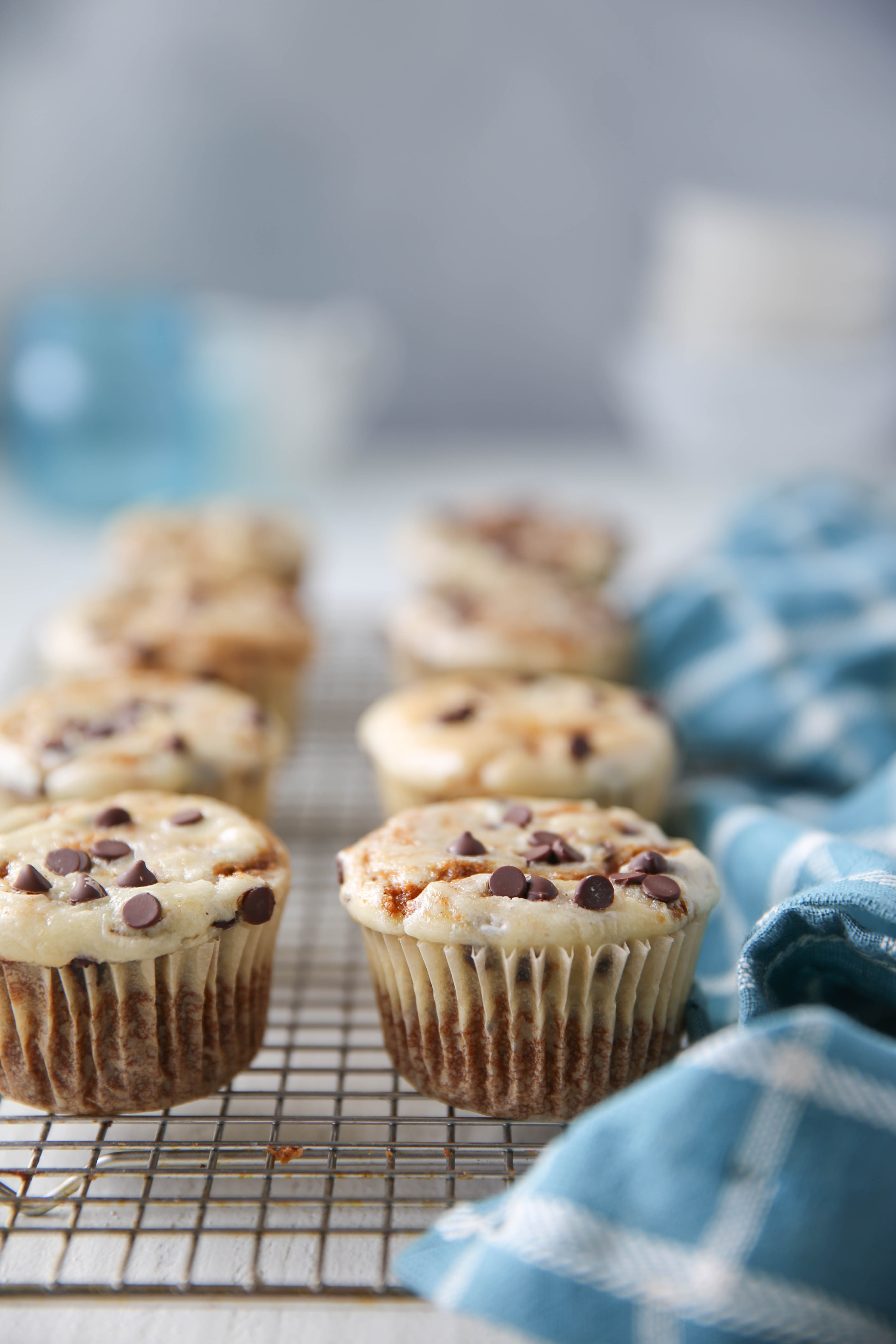 PaleOMG Chocolate Chip Pumpkin Cheesecake Muffins