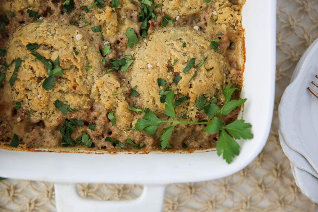 PaleOMG Biscuits & Gravy Casserole