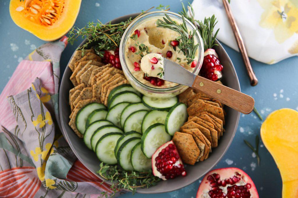 PaleOMG Creamy Butternut Squash Pomegranate Dip