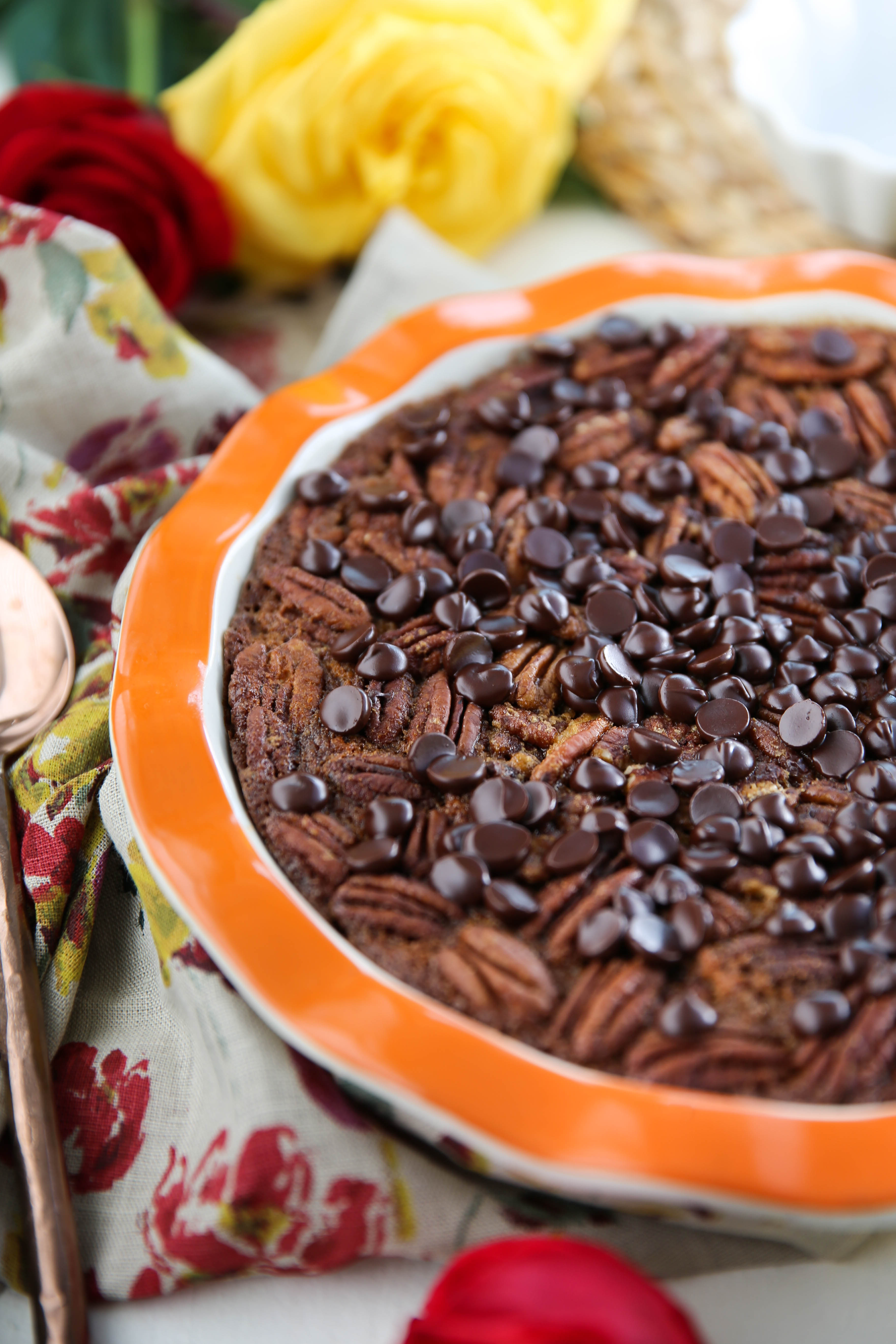 PaleOMG Chocolate Pecan Pie Cookie Cobbler