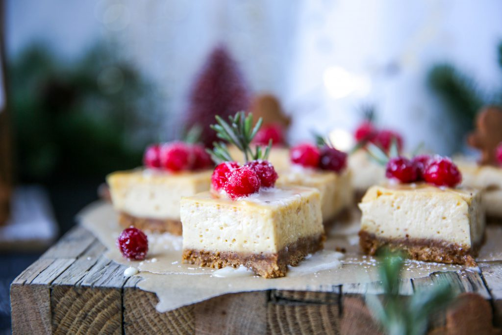 PaleOMG Eggnog Cheesecake Bars