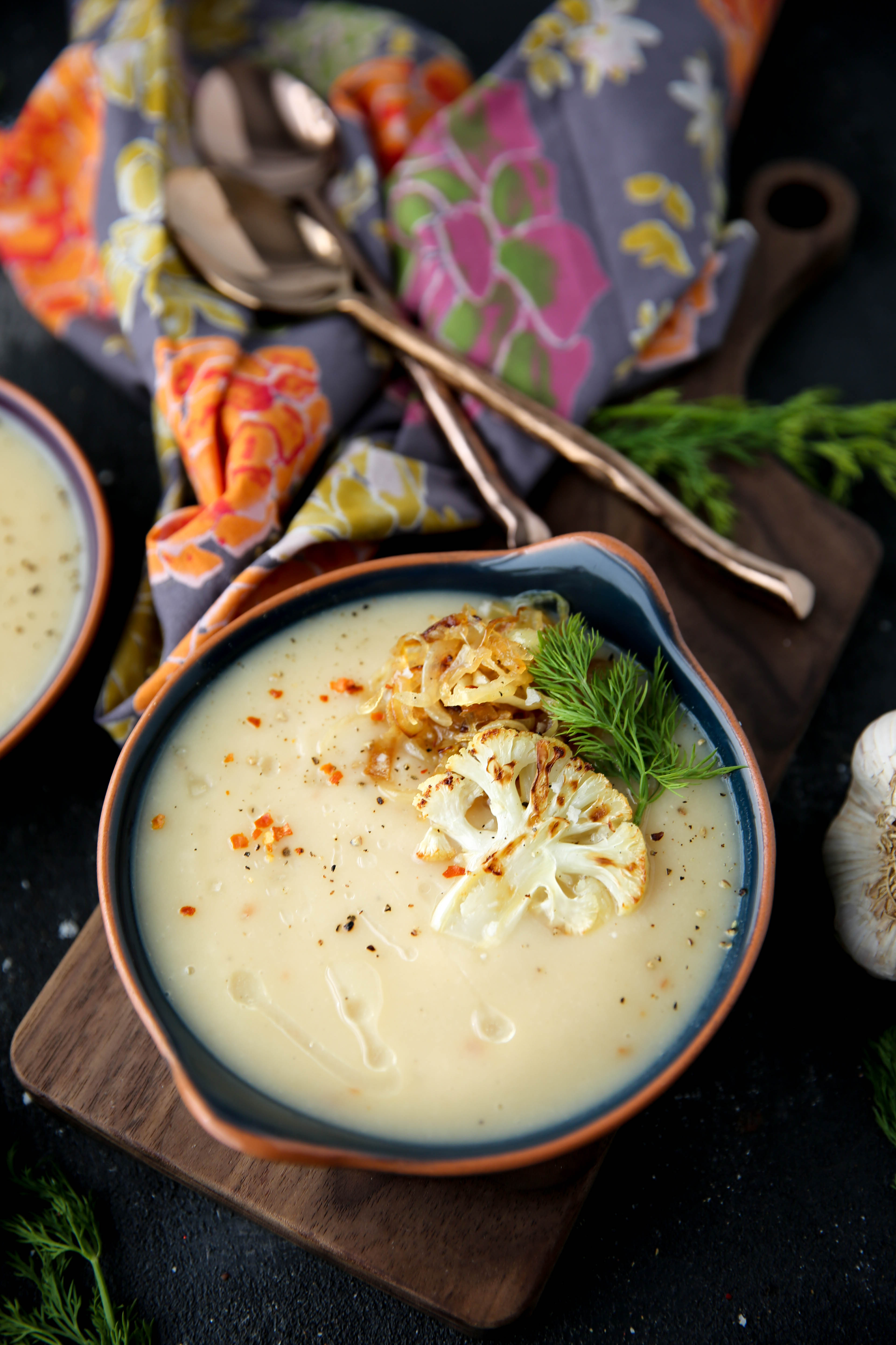 PaleOMG Roasted Garlic Cauliflower Soup