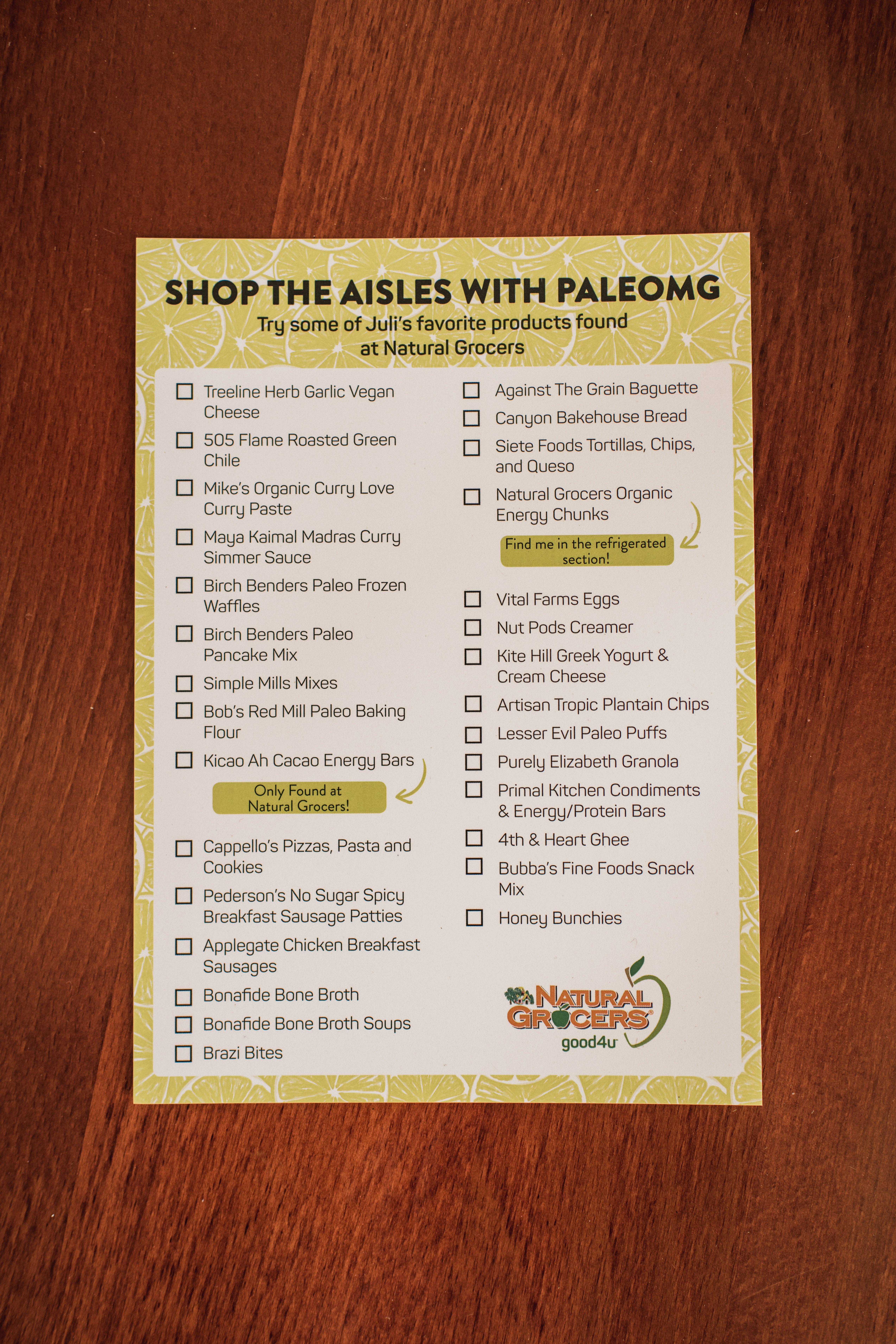 Natural Grocers + PaleOMG Event
