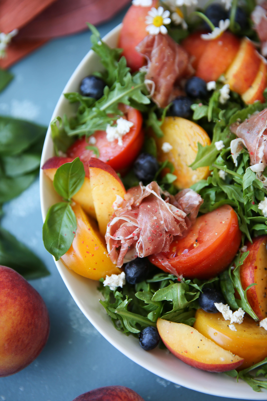 PaleOMG Peach Prosciutto Salad