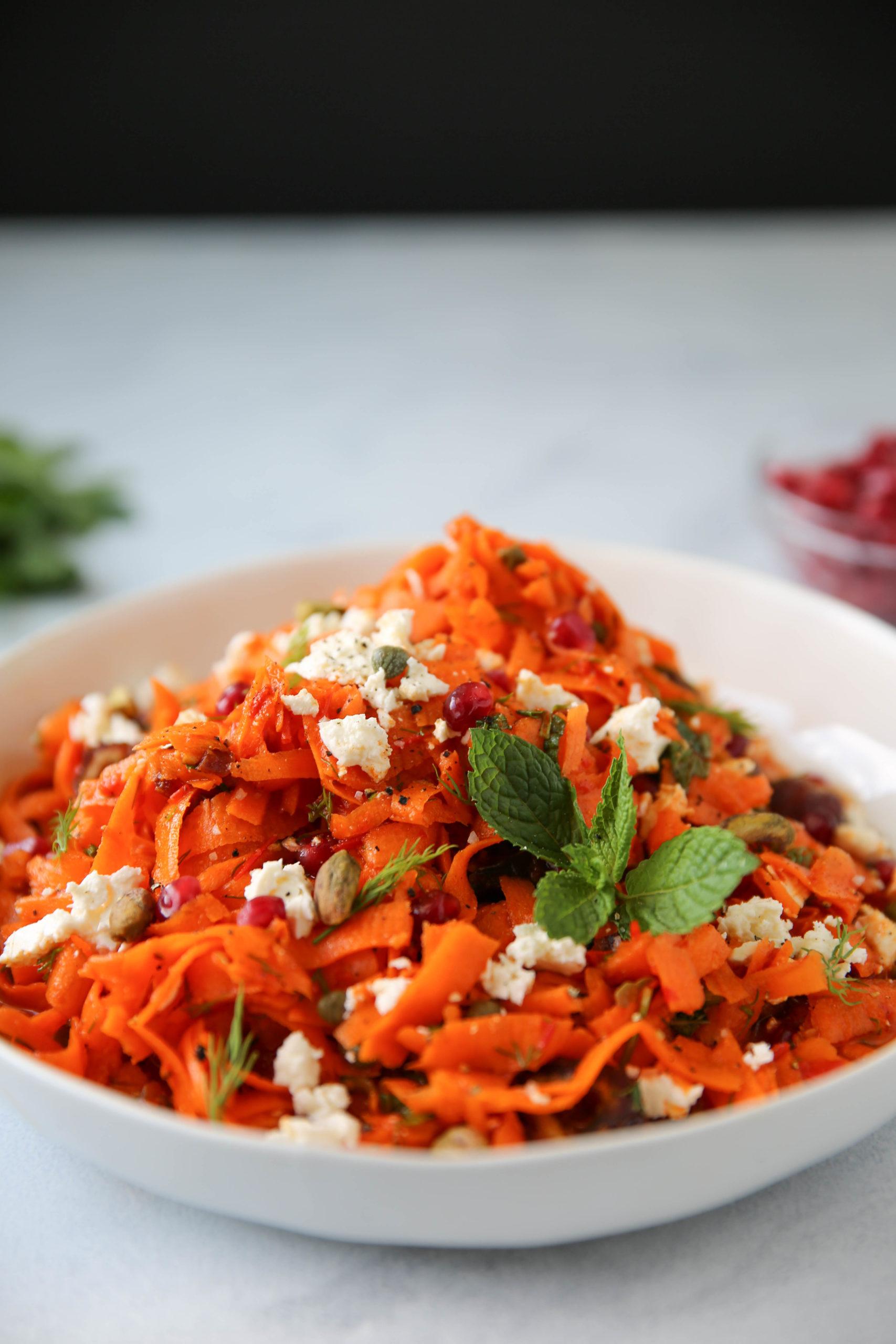 PaleOMG Harissa Carrot & Pomegranate Salad