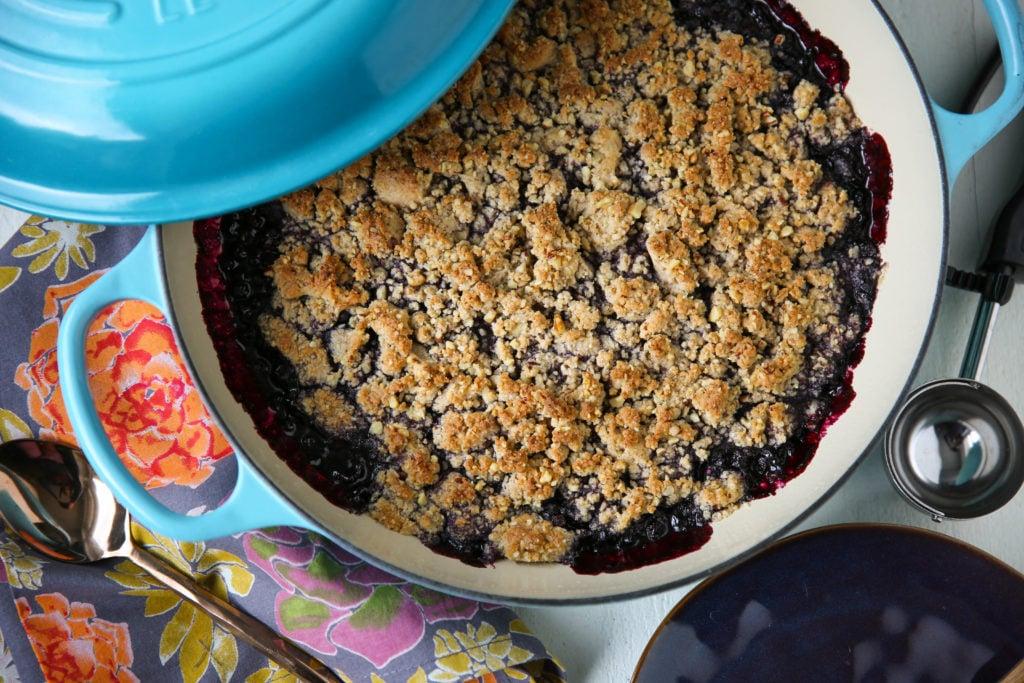 PaleOMG Blueberry Crisp