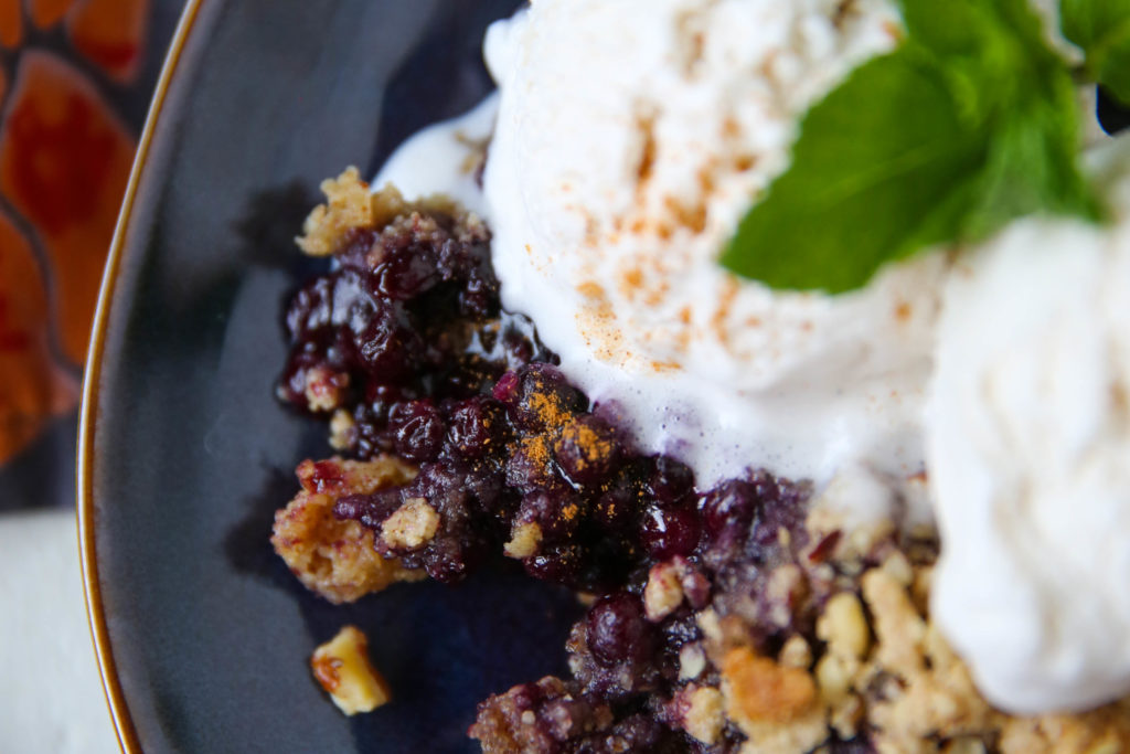 PaleOMG Blueberry Crisp