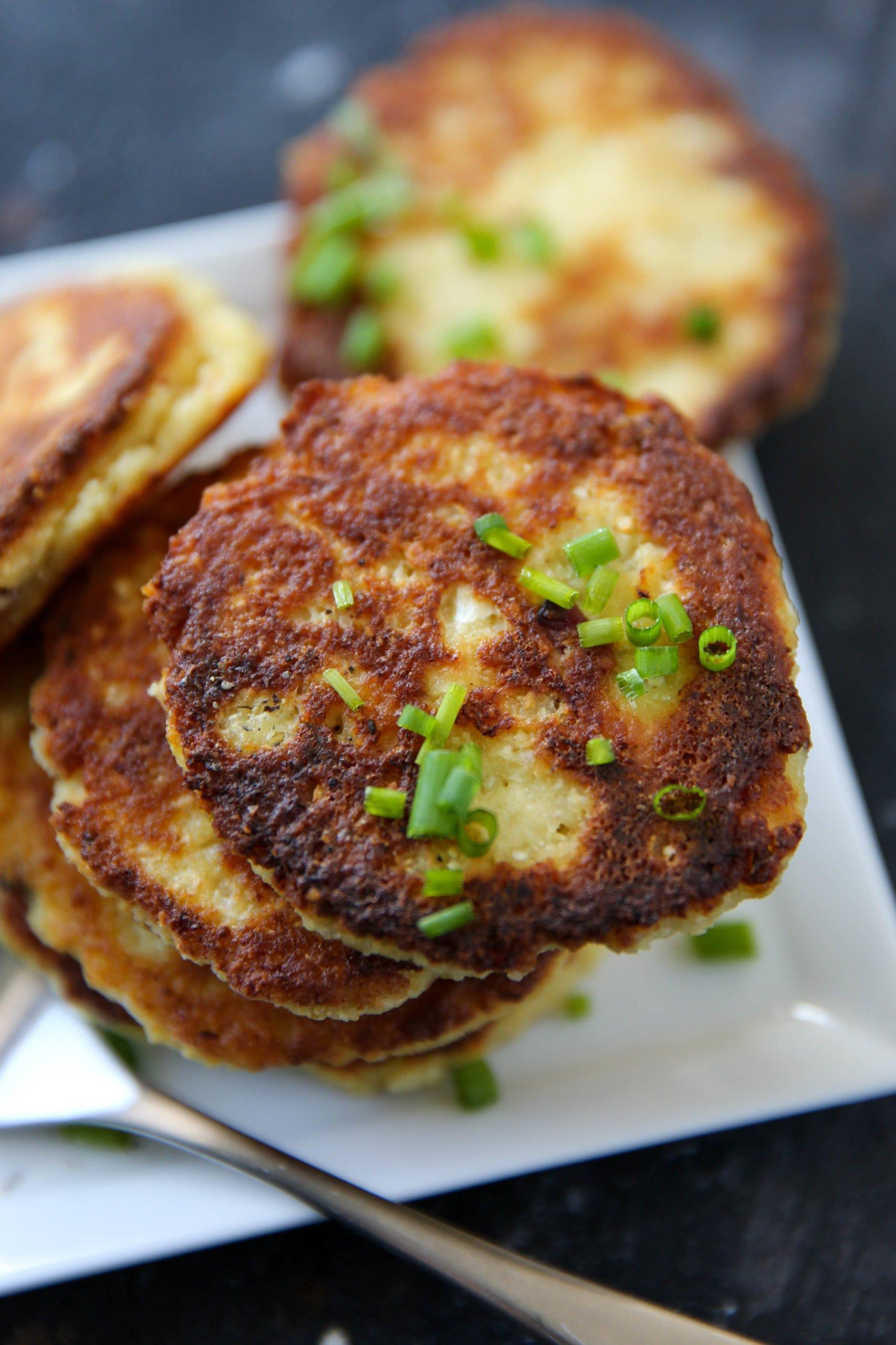 PaleOMG Bacon Cauliflower Fritters