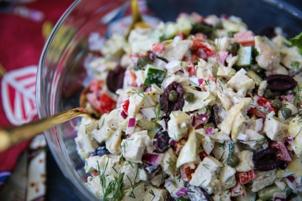 PaleOMG Mediterranean Chicken Salad