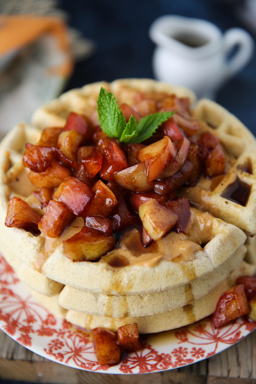 PaleOMG Apple Pie Protein Waffles