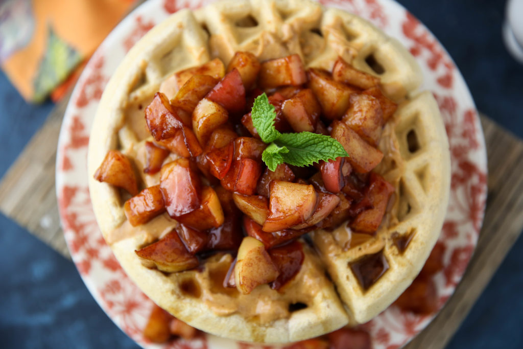 PaleOMG Apple Pie Protein Waffles