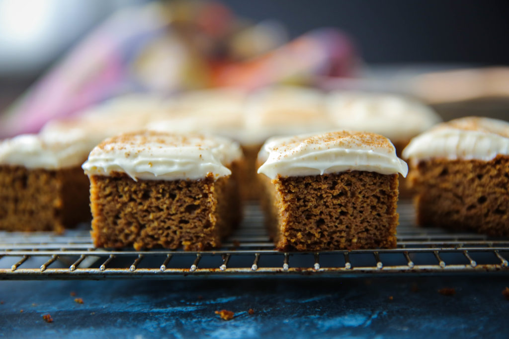 PaleOMG 4-Ingredient Frosted Pumpkin Squares