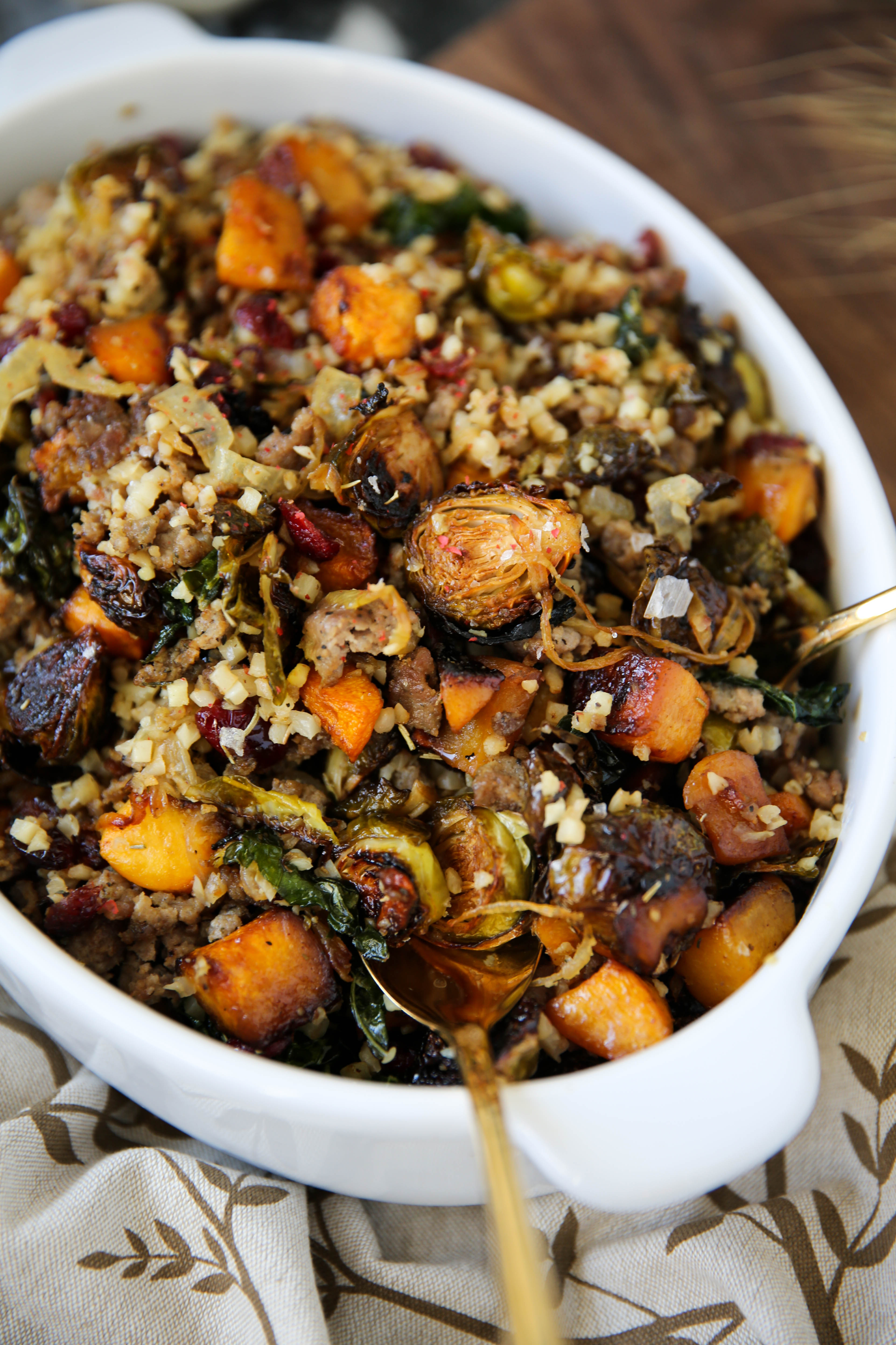 PaleOMG Brussels Sprouts & Butternut Squash Rice Pilaf