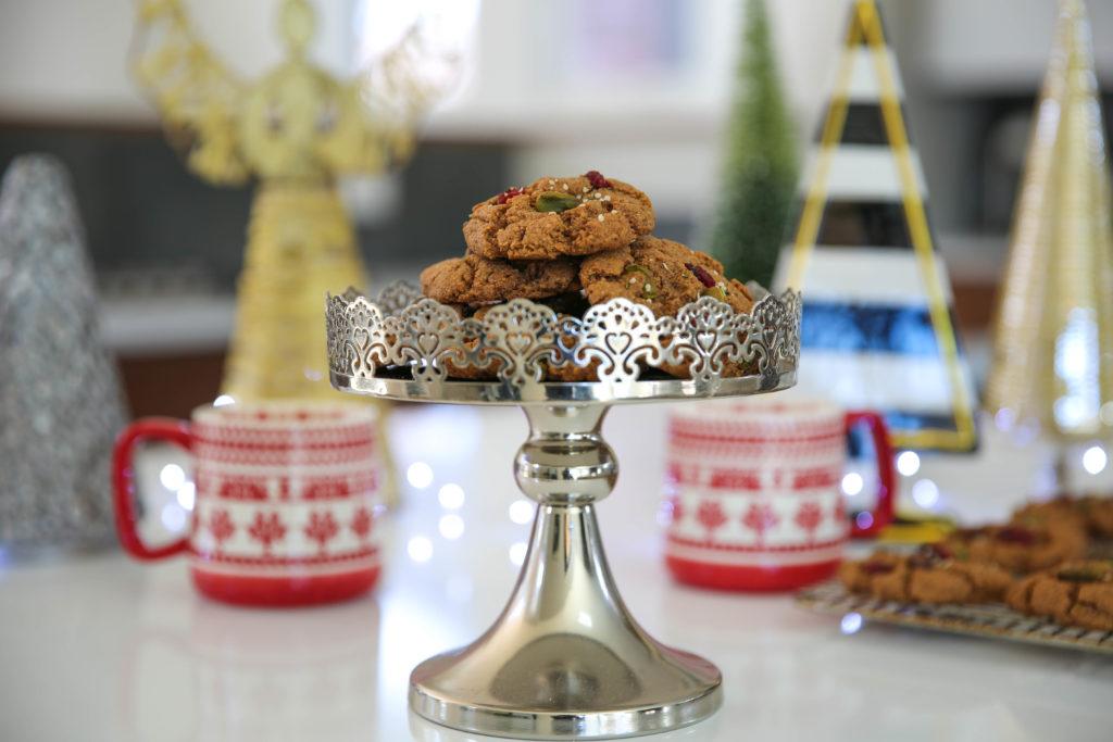 PaleOMG Cranberry Pistachio Christmas Cookies