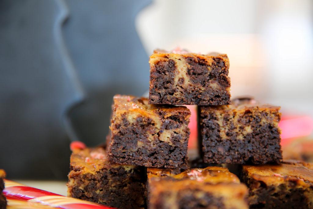 PaleOMG Peppermint Swirl Cheesecake Brownies