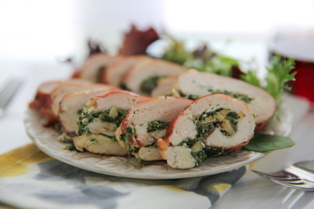 PaleOMG Spinach & Artichoke Stuffed Chicken