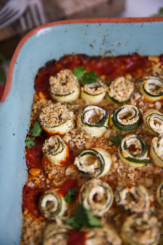 PaleOMG Zucchini Lasagna Roll Ups