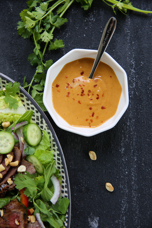 PaleOMG Thai Peanut Steak Salad