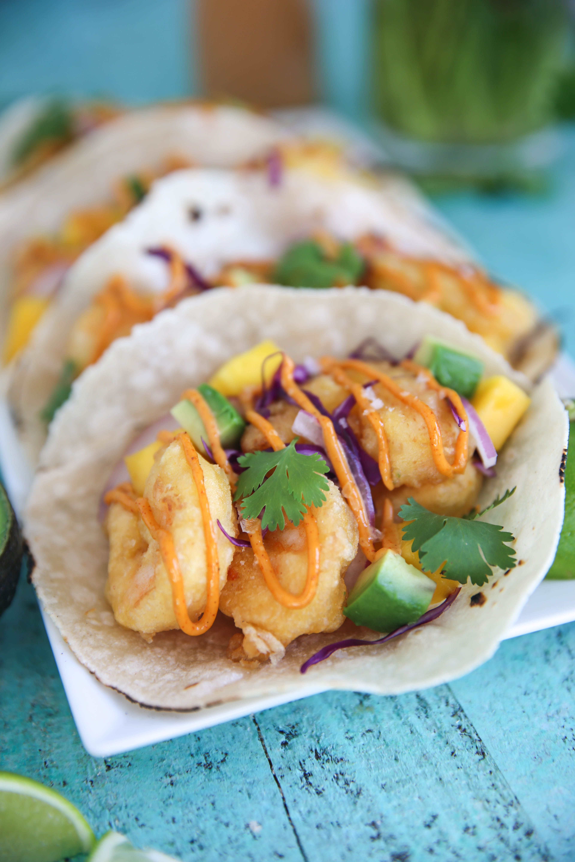 PaleOMG Battered Shrimp Tacos