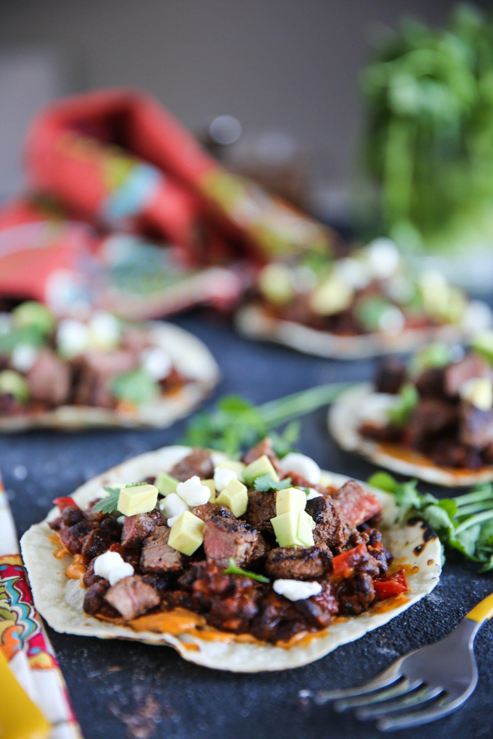 PaleOMG Steak & Bean Tostadas