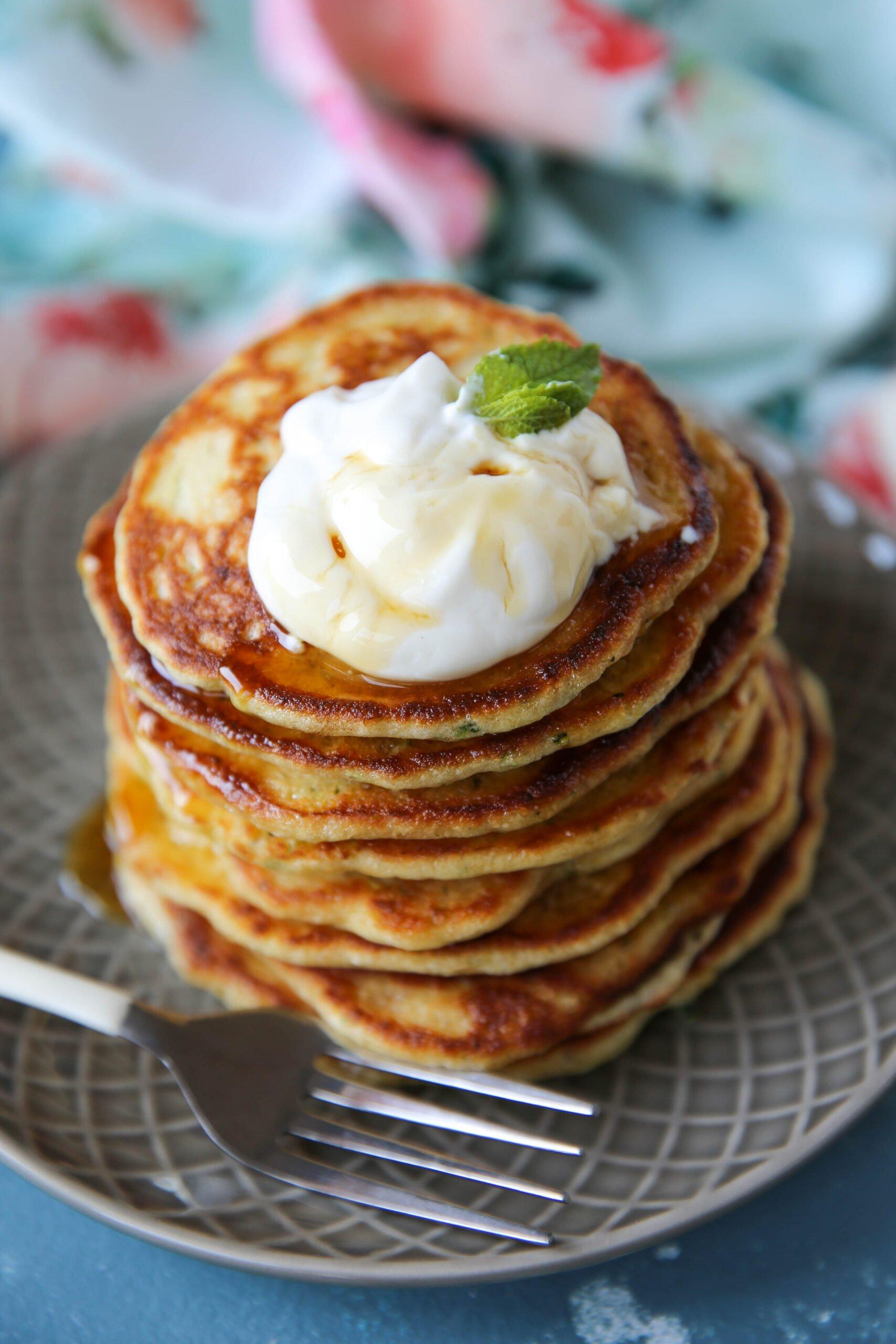 PaleOMG Fluffy Zucchini Pancakes