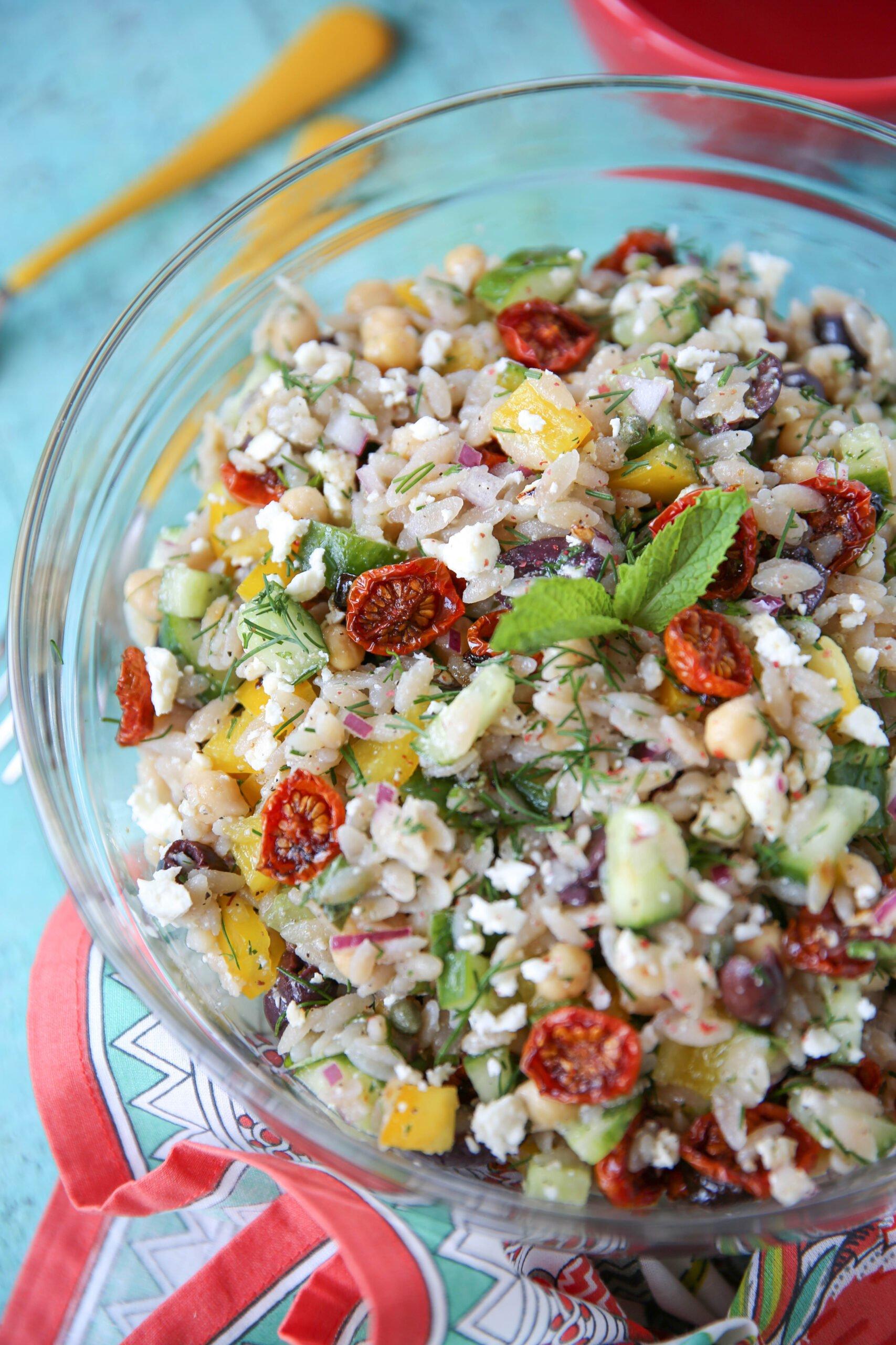 PaleOMG Mediterranean Orzo Salad