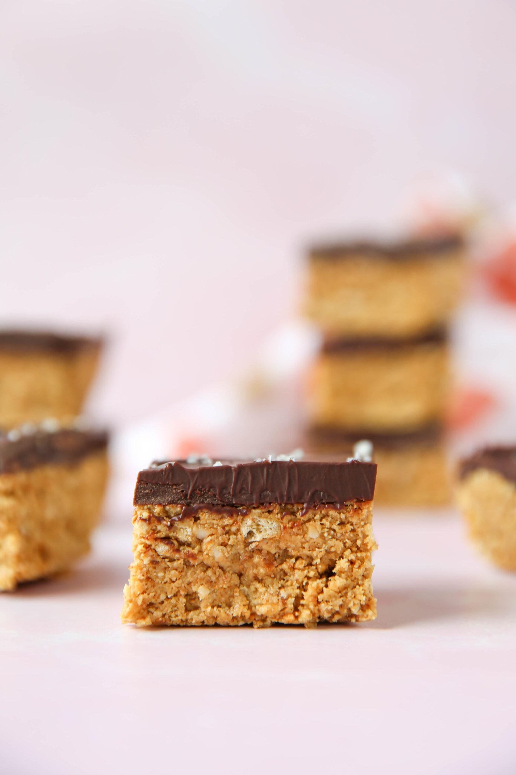 PaleOMG Peanut Butter Pretzel Bars