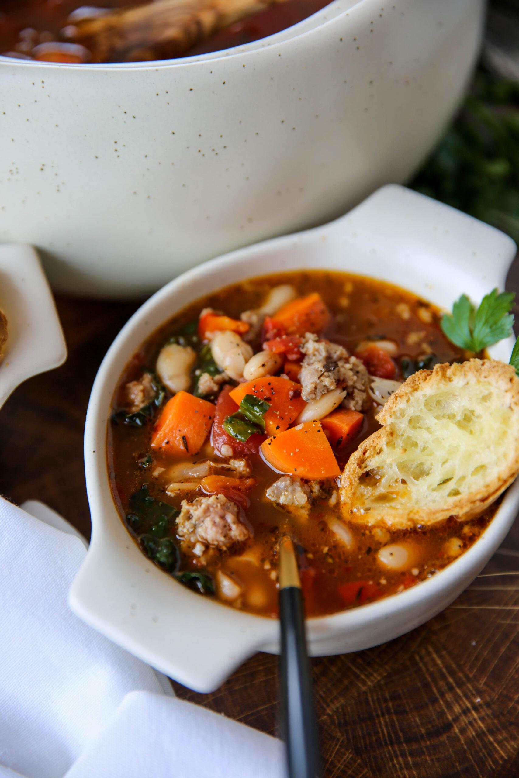 PaleOMG Cannellini Bean Soup