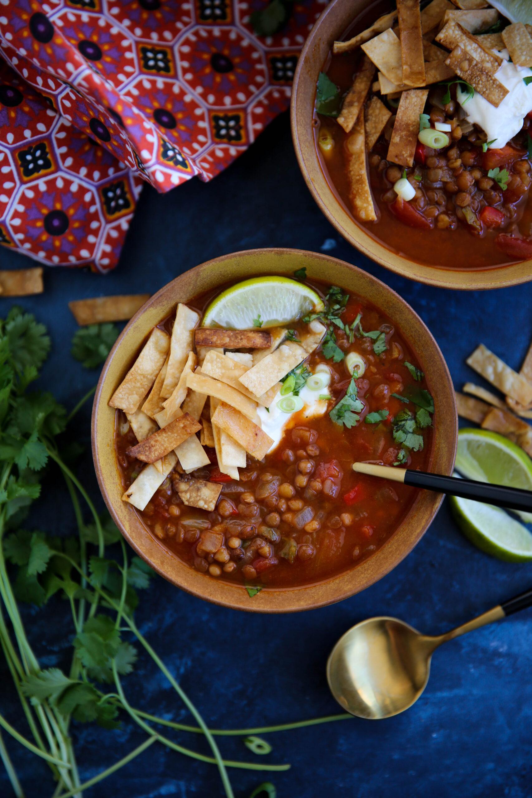 PaleOMG Super Easy Lentil Tortilla Soup