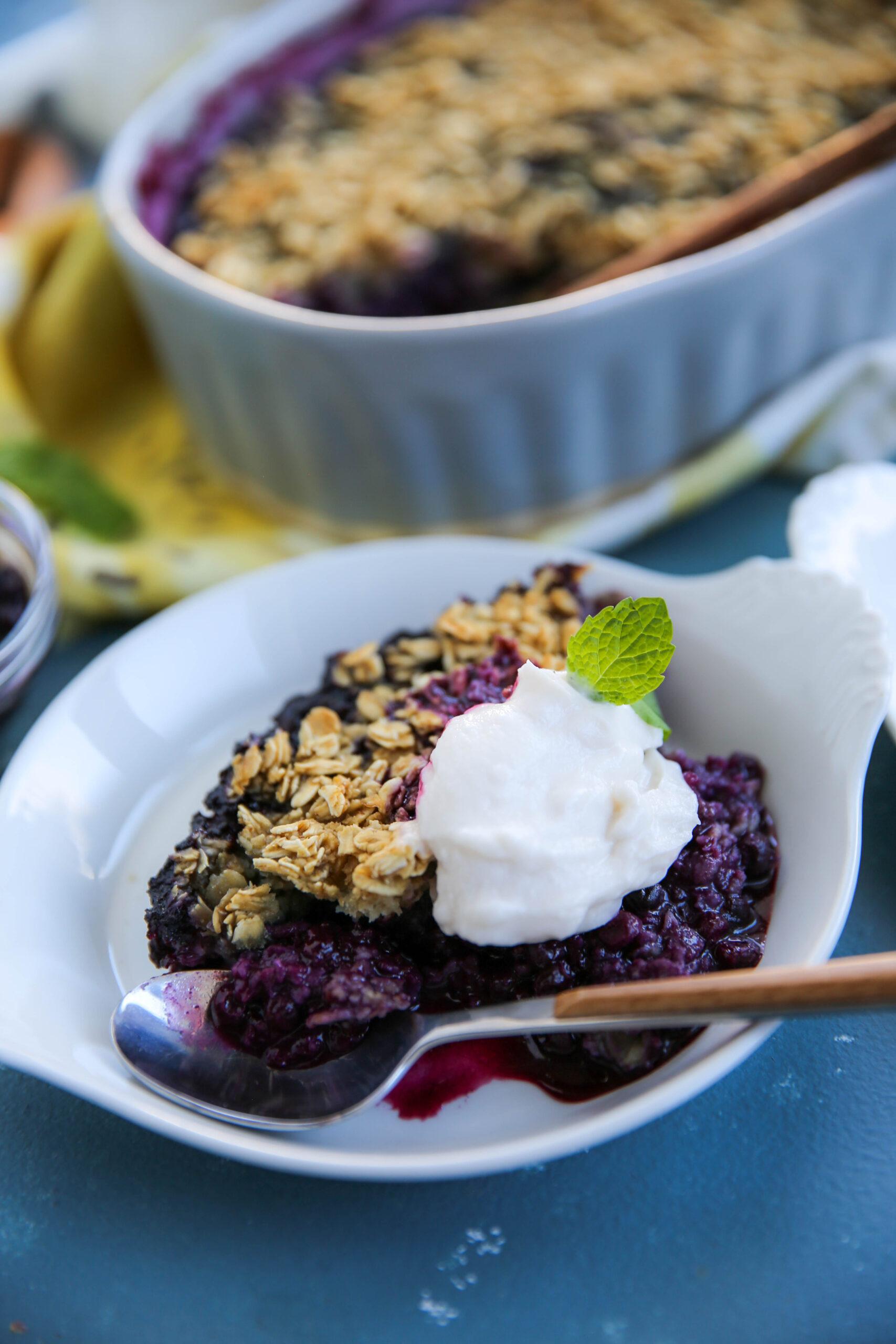 PaleOMG Blueberry Oatmeal Bake