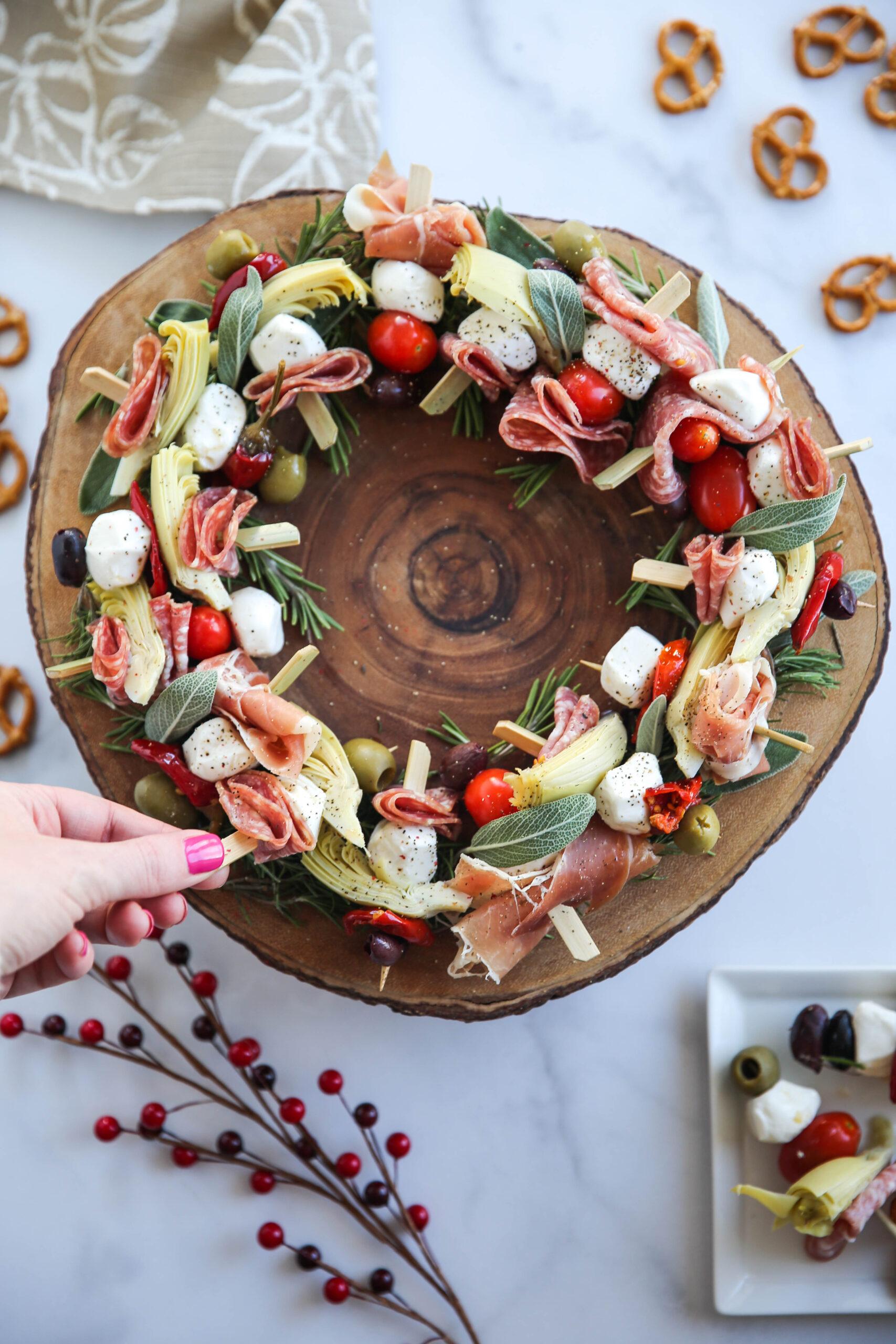 PaleOMG Charcuterie Wreath Appetizer