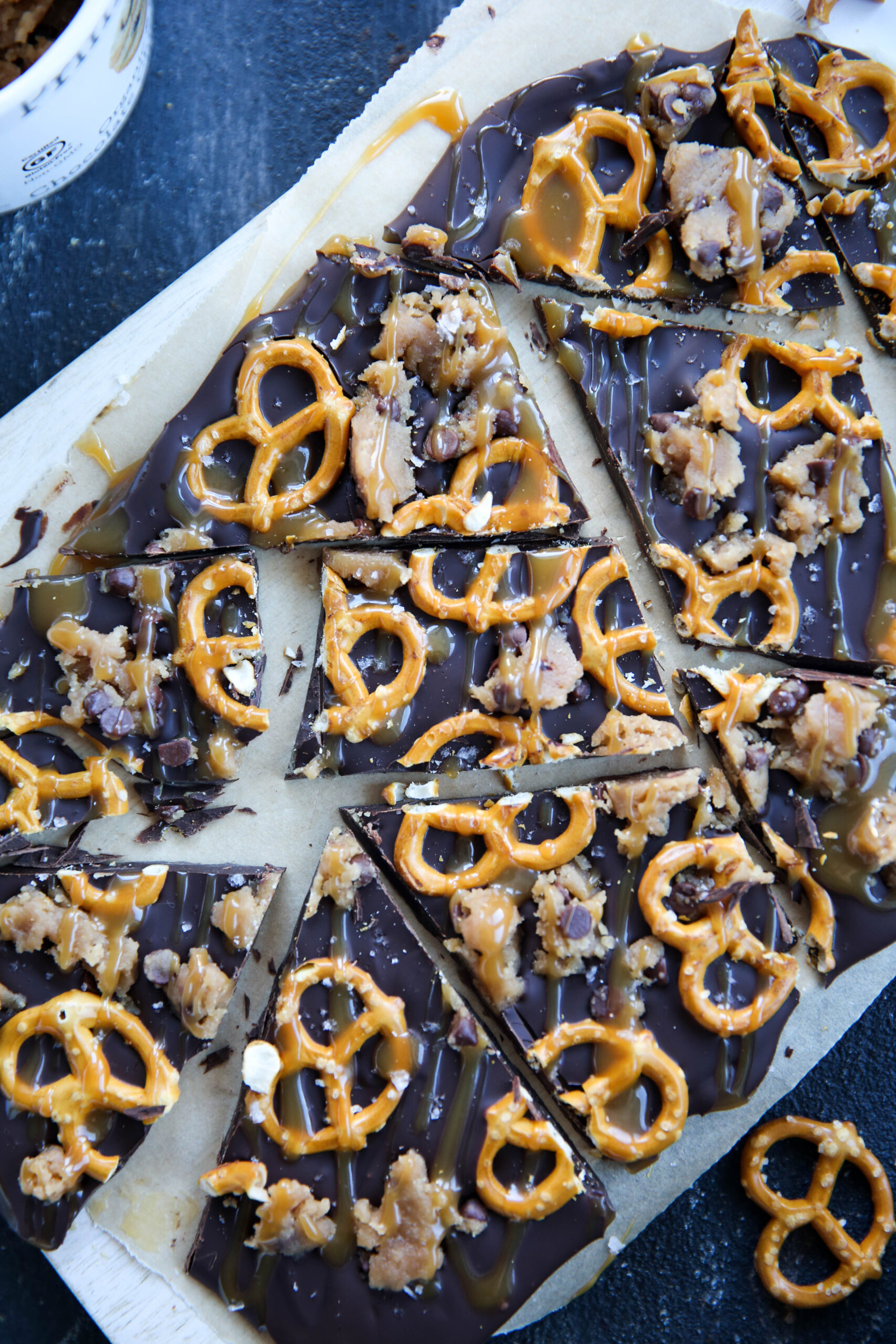 PaleOMG Caramel Pretzel Cookie Dough Bark