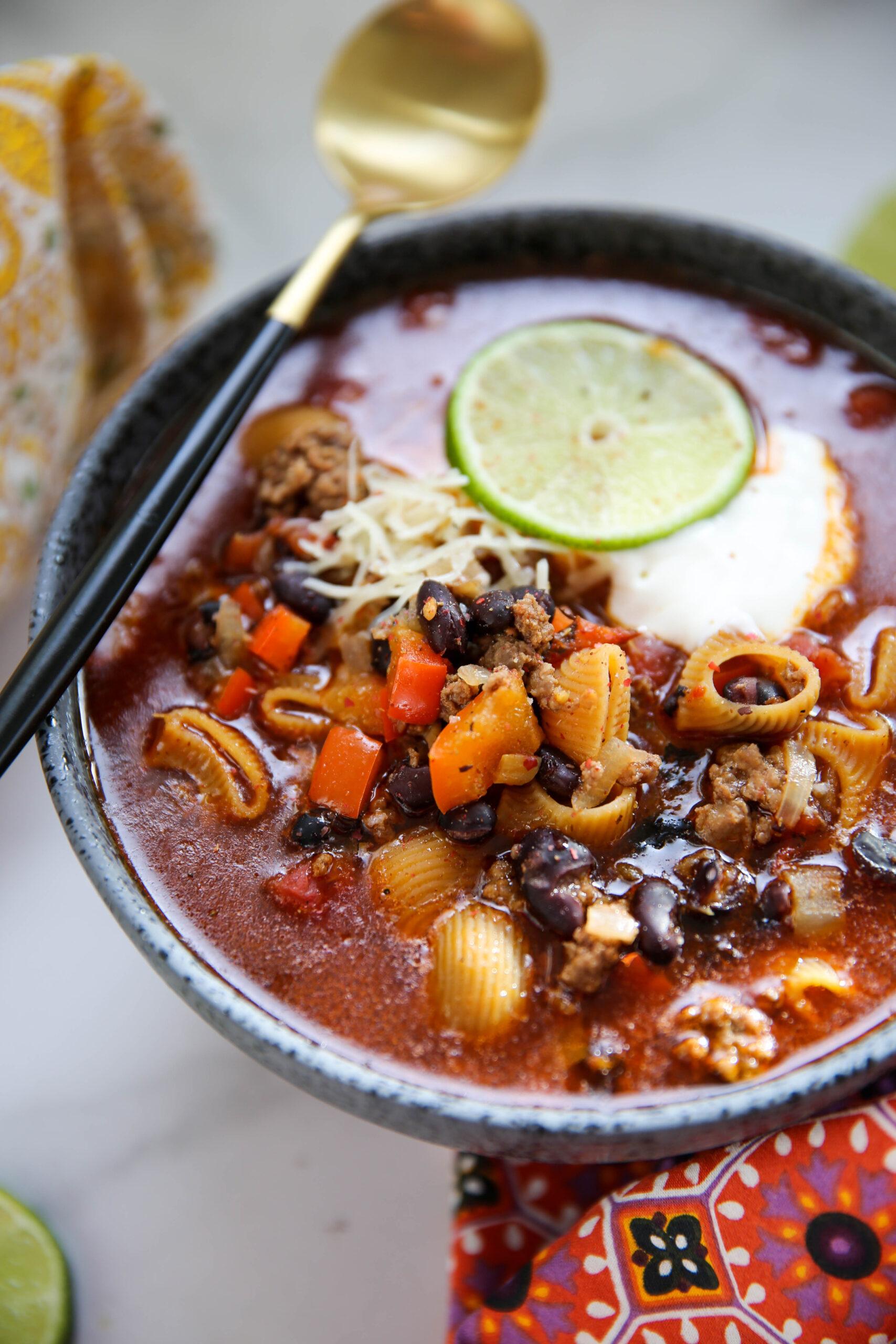 PaleOMG Taco Pasta Soup