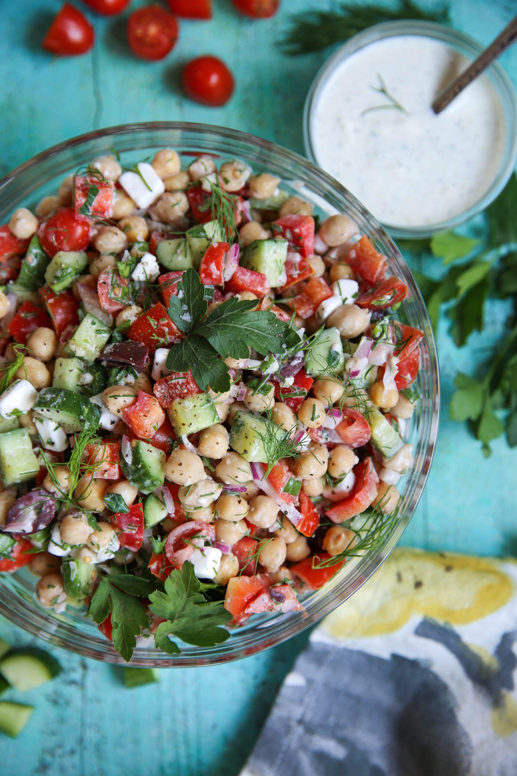 PaleOMG Mediterranean Chickpea Salad