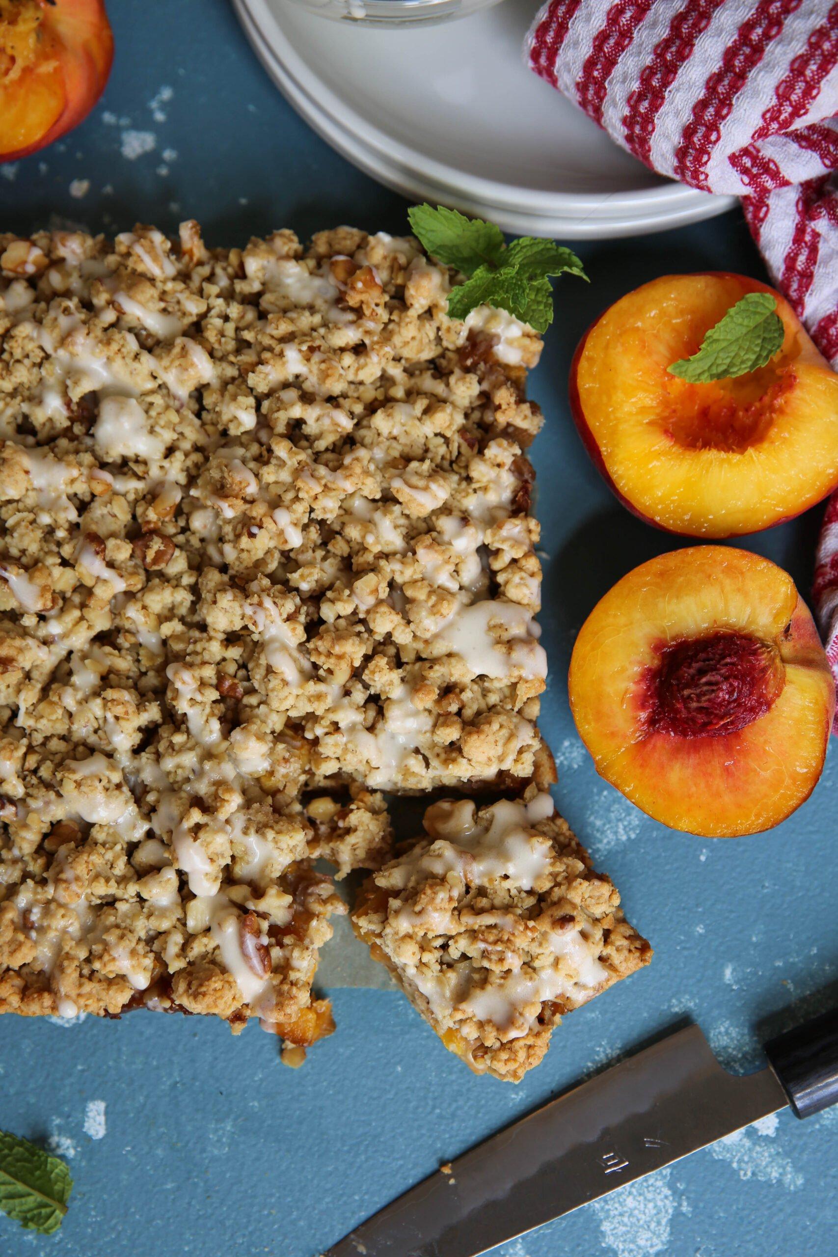 PaleOMG Peach Crumble Bars
