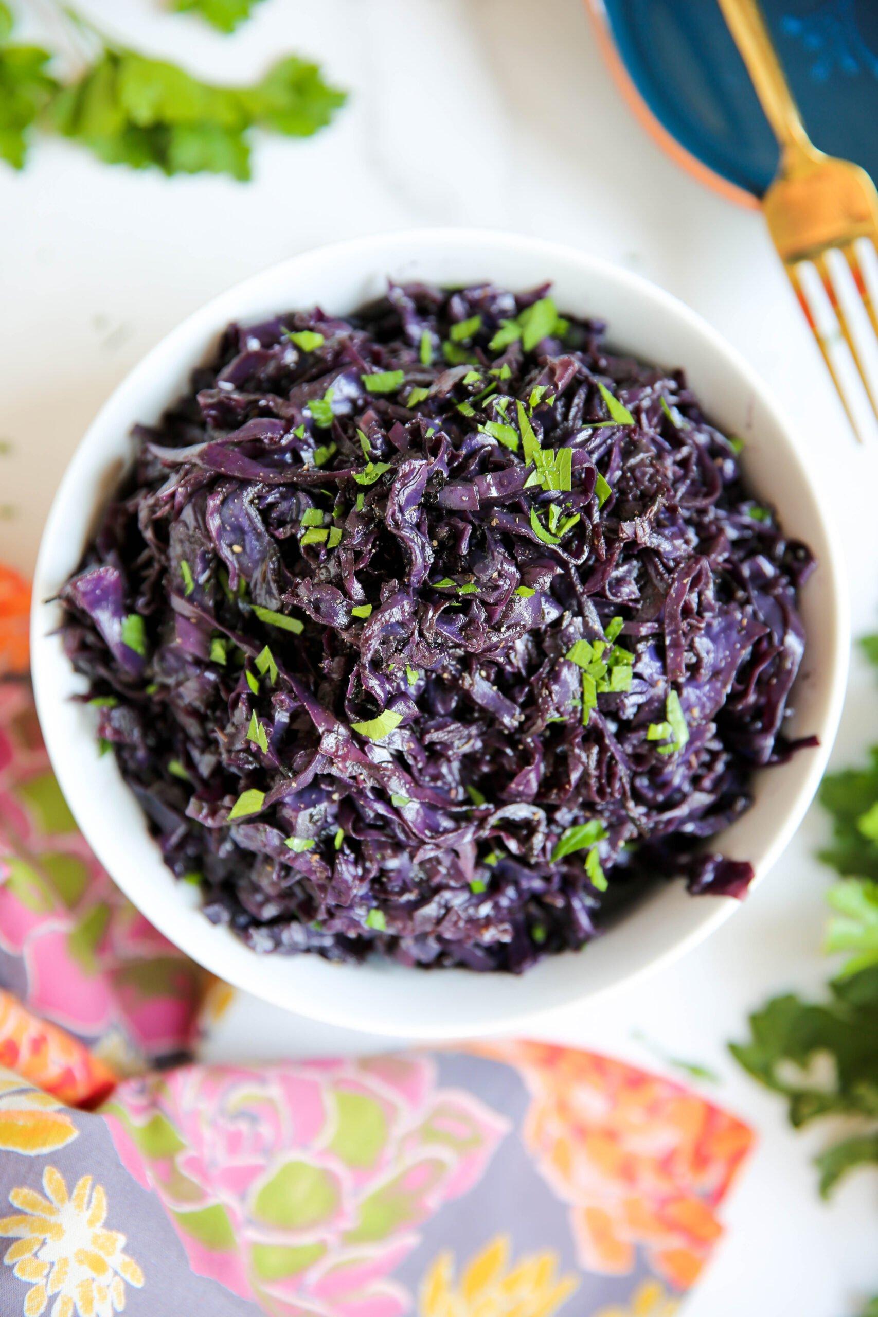 PaleOMG Braised Purple Cabbage