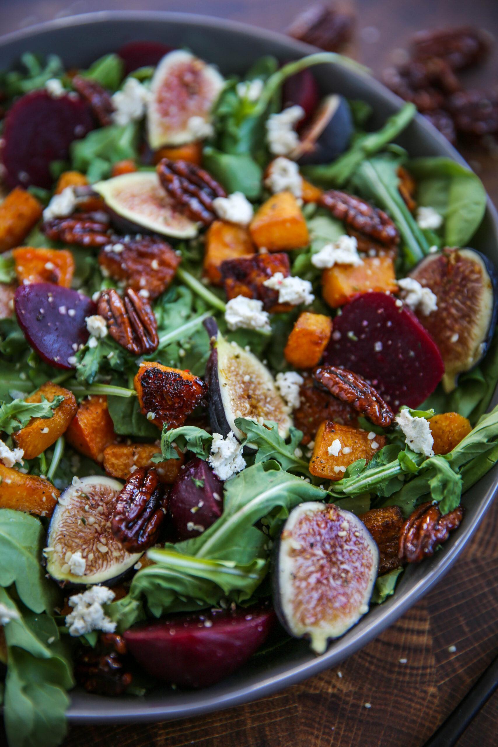 PaleOMG Fig & Roasted Butternut Squash Salad