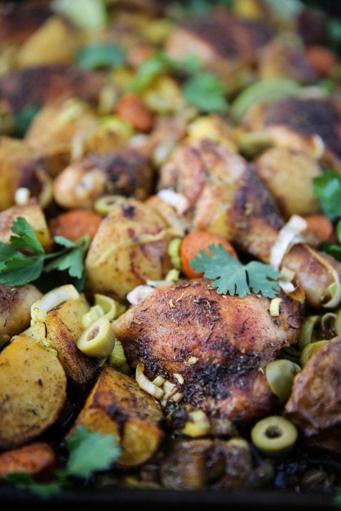PaleOMG Sheet Pan Spanish Chicken & Potatoes