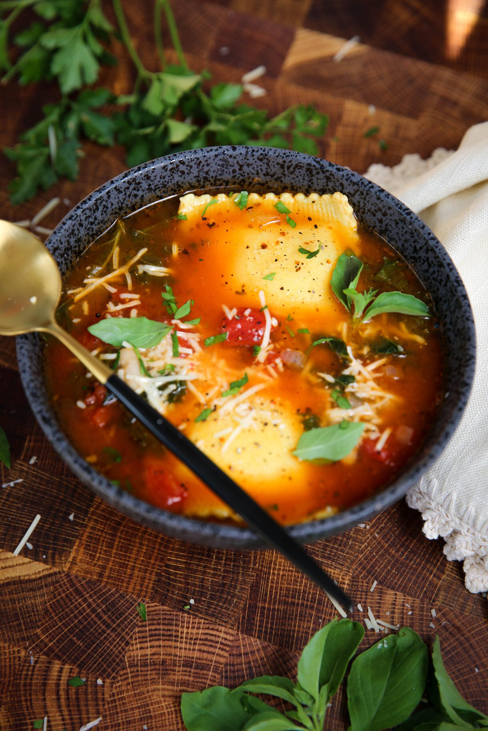 PaleOMG Grain-Free Ravioli Soup